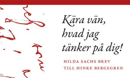 Hilda Sachs brev till Hinke Bergegren