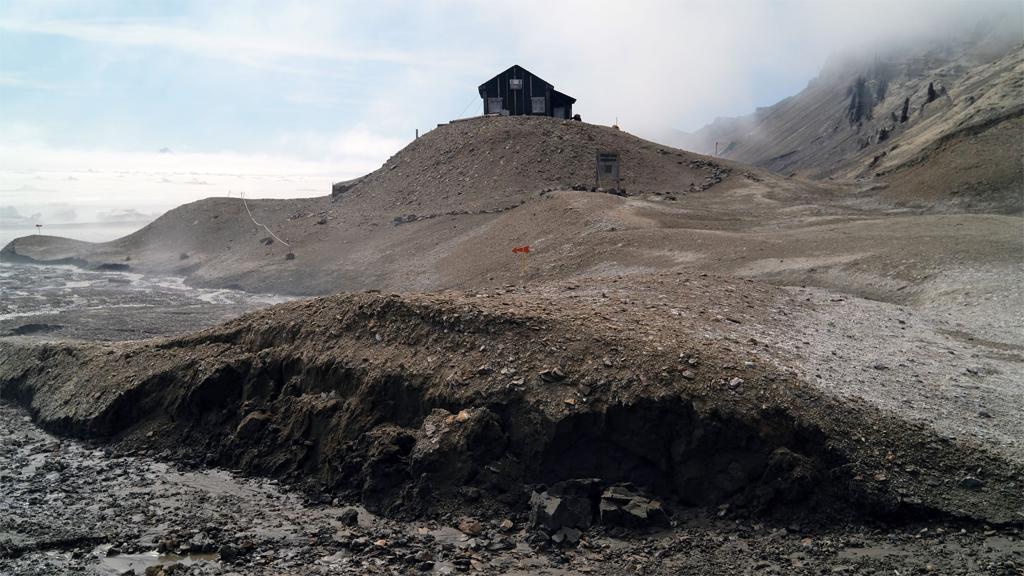 Forskningsstationen på Snow Hill-ön. Foto: Gunnar Almevik (CC BY)