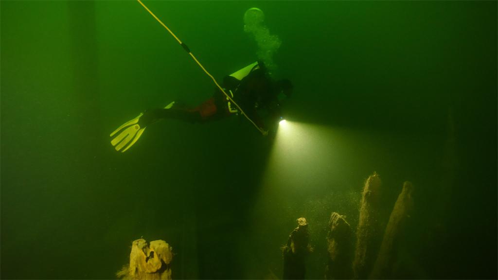 Marinarkeolog vid Osmundvraket. Foto: Jim Hansson/Vrak – Museum of Wrecks