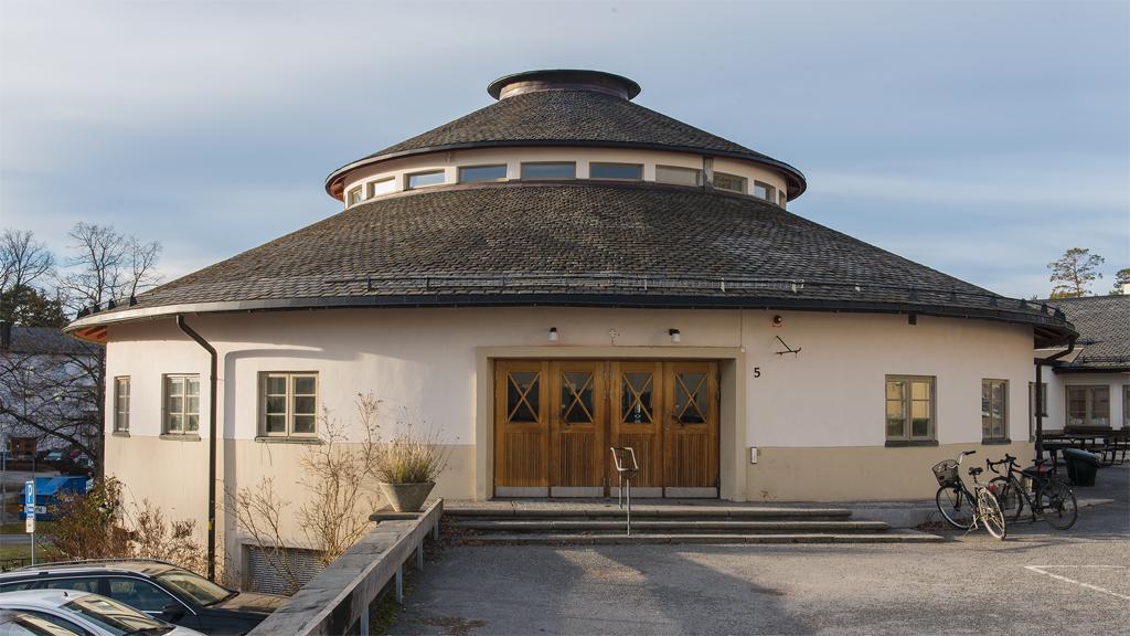 Frimurarebarnhuset, Blackeberg, Stockholm, arkitekt Hakon Ahlberg. Foto: Hallands Konstmuseum