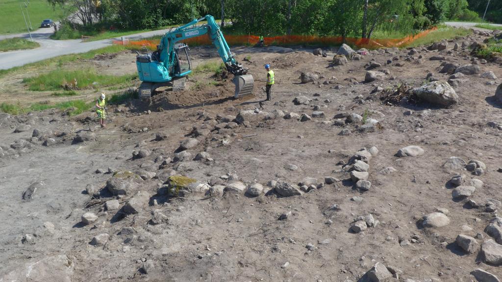 Utgrävning Viggbyholm. Foto: Arkeologerna