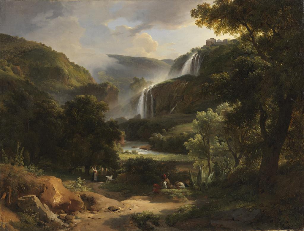 "Achille Etna Michallon: ""Marmorefallen vid Terni, Italien"", sign. 1820, olja på duk. Foto: Cecilia Heisser/Nationalmuseum"