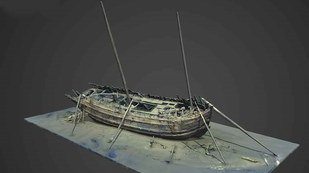 3D-modell av Dalarövraket (Vrak - Museum of wreck)