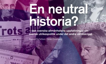 Positiv syn på Sveriges agerande under andra världskriget