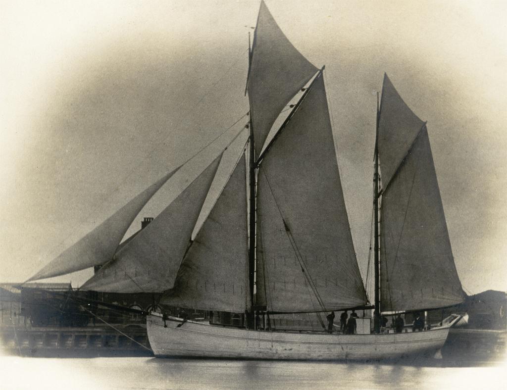 Segelfartyget Amber. Foto ur Landskrona museums samlingar