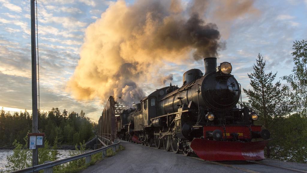 Järnvägsmuseets ånglok på Inlandsbanan. Foto: David Larsson/Inlandsbanan