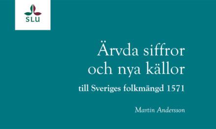 Ärvda siffror och nya källor till Sveriges folkmängd 1571