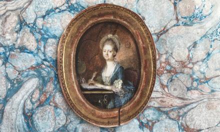 Kvinnor kring bord på 1700-talets Näs
