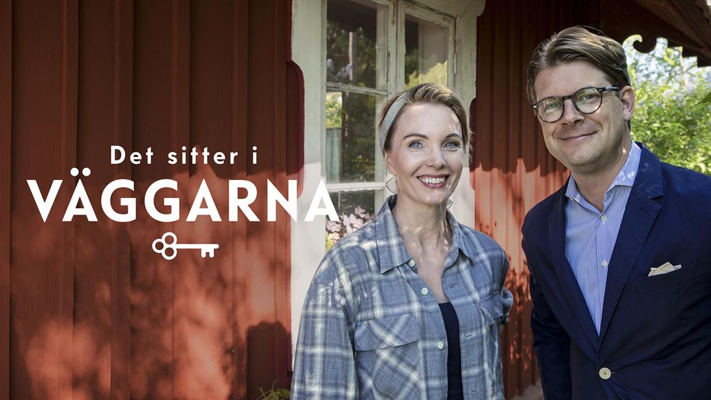 Programledarna Erika Åberg och Rickard Thunér. Foto: Maria Rosenlöf/SVT