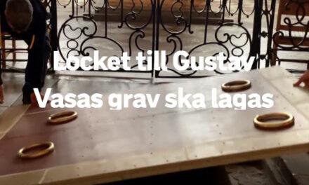 Gustav Vasas krypta öppnad
