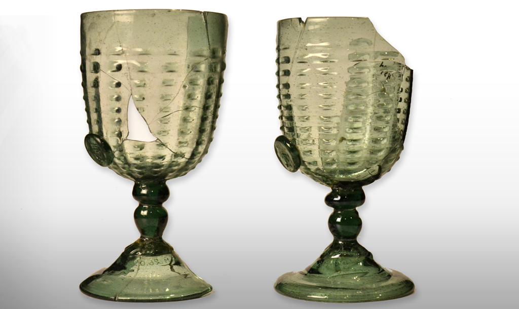 Hertig Karls originalglas från 1500-talet i Sörmlands museums samlingar. Foto: Sörmlands museum