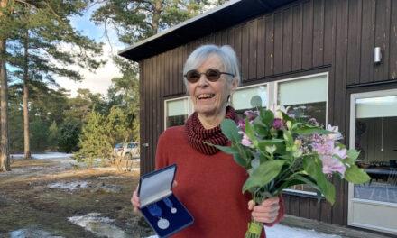 Riksantikvarieämbetets förtjänstmedalj till Kristina Berglund