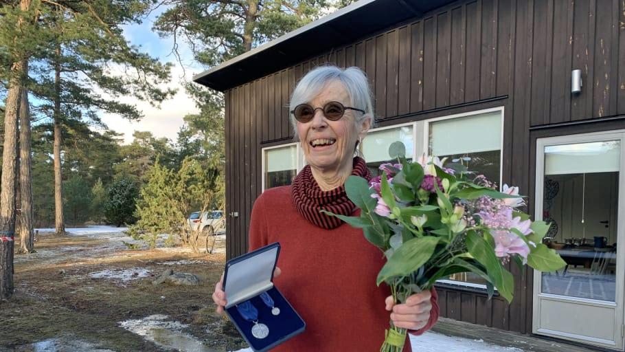 2020 års förtjänstmedaljör Kristina Berglund. Foto: Björn Sundberg (CC BY)
