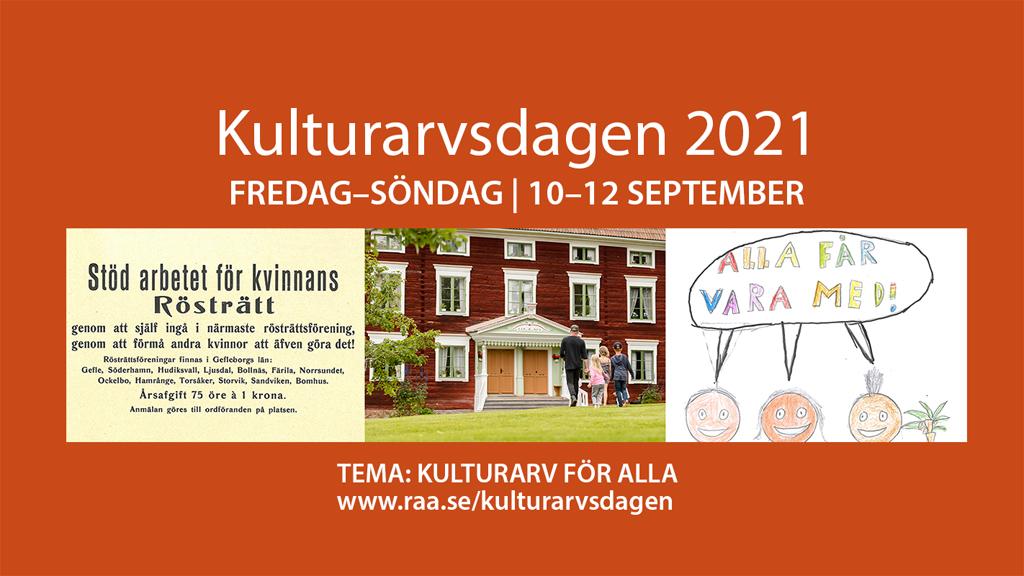 Kulturarvsdagen firas kommande helg