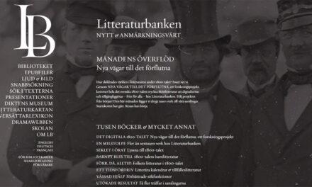 Litteraturbanken digitaliserar all svensk 1800-talslitteratur