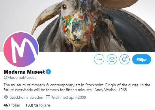 De svenska museerna på Twitter