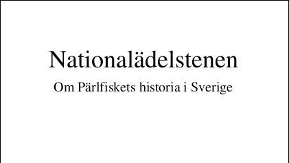 Pärlfiskets historia i Sverige