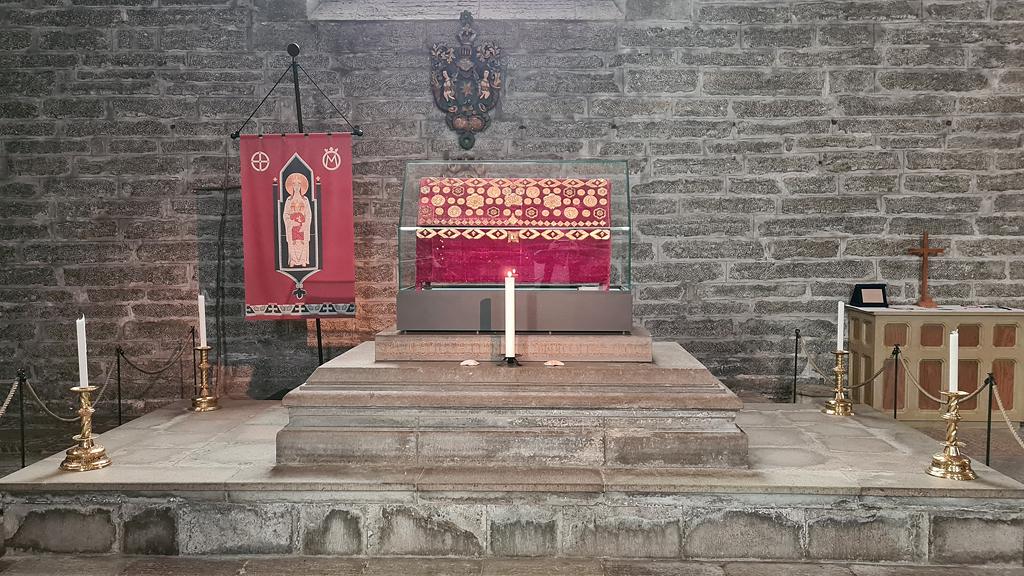 Relikskrinet i Vadstena klosterkyrka. Foto: Peter Kristensson
