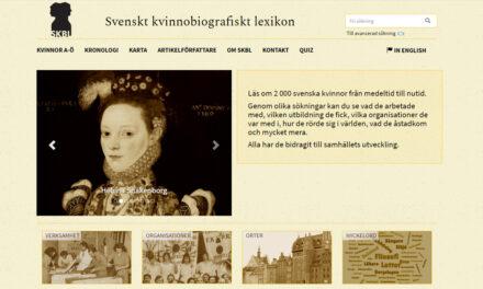 Dubbelt så många kvinnor i Svenskt kvinnobiografiskt lexikon